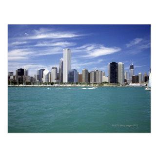 El lago Michigan, horizonte, destinos del viaje, Postal