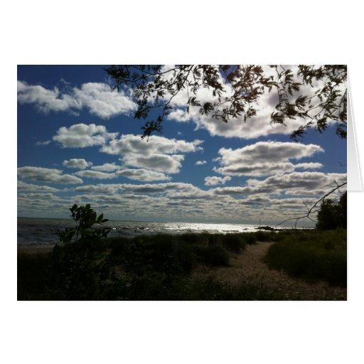 El lago Michigan, parque de Gillson Tarjeta De Felicitación