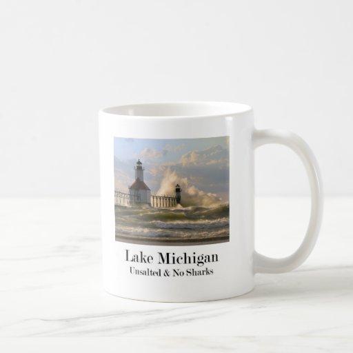 El lago Michigan Tazas