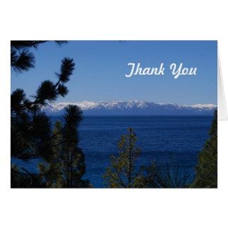 El lago mountain le agradece cardar tarjeta pequeña