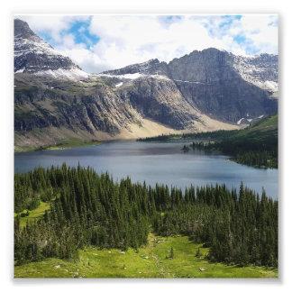 El lago ocultado pasa por alto el Parque Nacional Fotografía