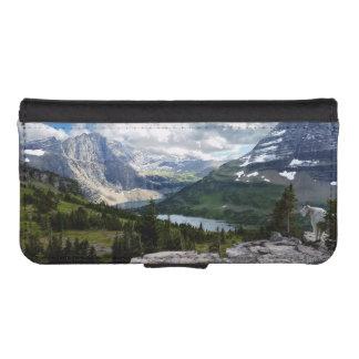El lago ocultado pasa por alto el Parque Nacional Fundas Billetera De iPhone 5