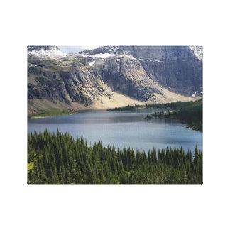 El lago ocultado pasa por alto el Parque Nacional Impresiones En Lienzo Estiradas