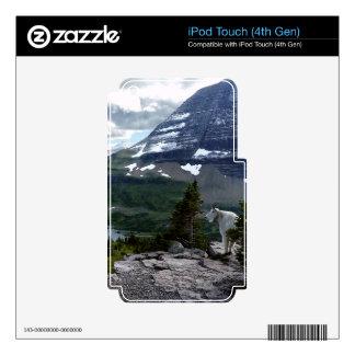 El lago ocultado pasa por alto el Parque Nacional iPod Touch 4G Calcomanías