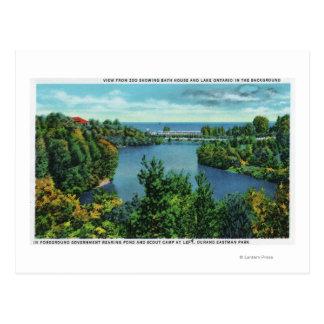 El lago Ontario y parque de Durand Eastman Tarjeta Postal