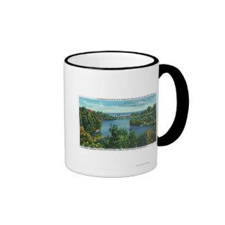 El lago Ontario y parque de Durand Eastman Taza De Dos Colores