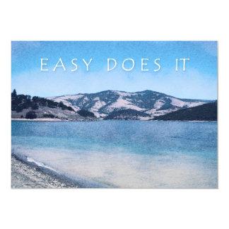 """El lago reservado fácil lo hace invitación 5"""" x 7"""""""