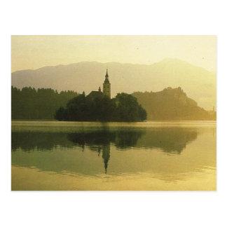 El lago sangró, antigua Yugoslavia, imagen del vin Postal