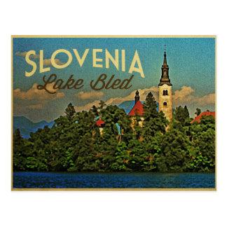 El lago sangró Eslovenia Tarjetas Postales