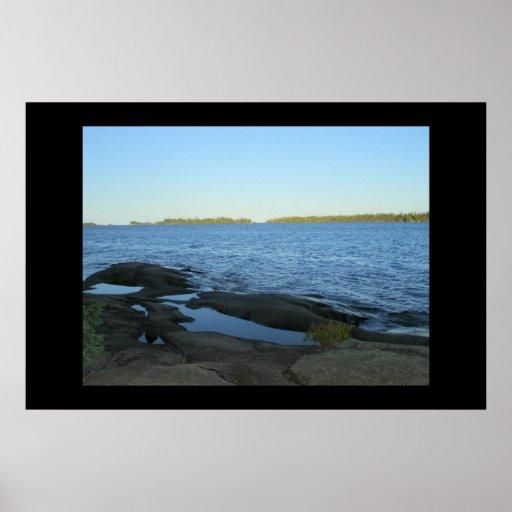 El lago Superior a partir de tres millas Impresiones