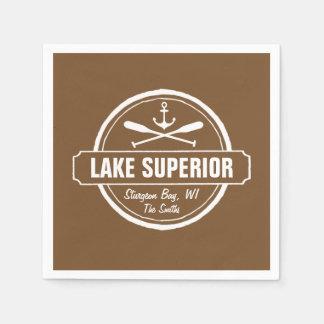 El lago Superior, ciudad de encargo, nombre, Servilleta De Papel
