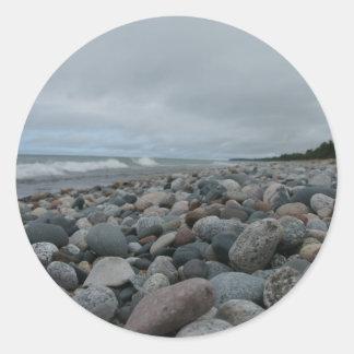 El lago Superior Etiqueta Redonda
