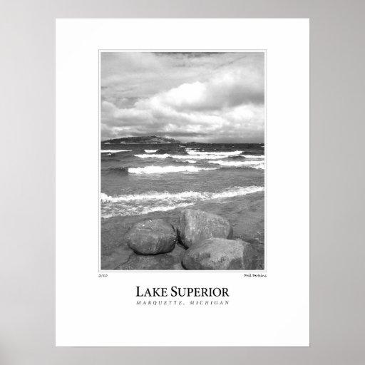El lago Superior Póster
