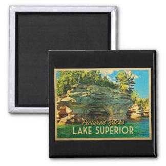 El lago Superior representó rocas Imán Cuadrado
