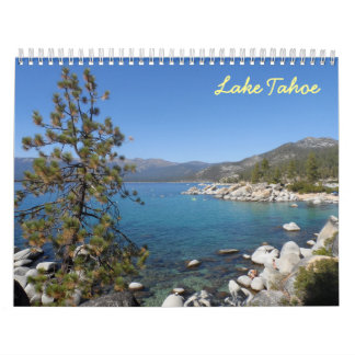 El lago Tahoe 2017 Calendario De Pared