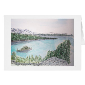 el lago Tahoe, bahía esmeralda Tarjeta De Felicitación
