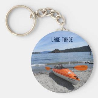 El lago Tahoe, CA Llavero Redondo Tipo Pin