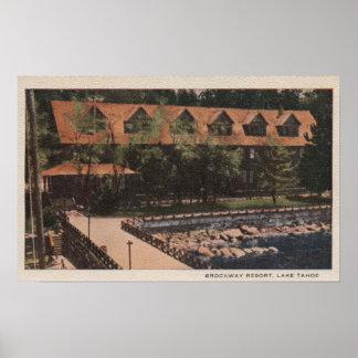 El lago Tahoe, CA - opinión de la casa de campo de Posters