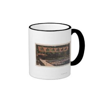 El lago Tahoe, CA - opinión de la casa de campo de Tazas De Café