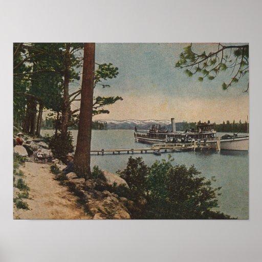 El lago Tahoe, CA - opinión esmeralda de la bahía  Impresiones