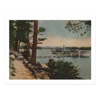 El lago Tahoe, CA - opinión esmeralda de la bahía Tarjetas Postales