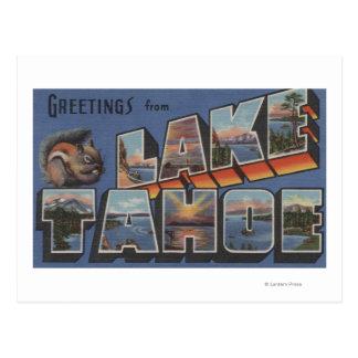 El lago Tahoe, California - escenas grandes de la Postal