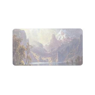 El lago Tahoe de Albert Bierstadt, paisaje del Etiqueta De Dirección