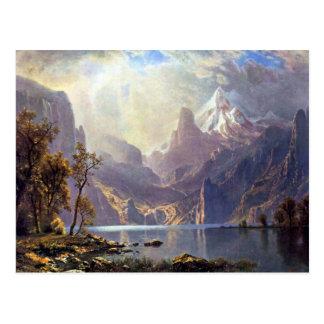 El lago Tahoe de Albert Bierstadt, paisaje del Postales