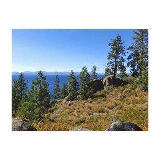 El lago Tahoe del sur Impresiones En Lona