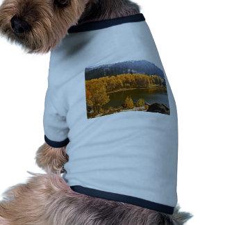 El lago Tahoe en el paisaje de la caída/del invier Camisetas De Mascota