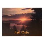El lago Tahoe en la invitación del fiesta de la Invitación 12,7 X 17,8 Cm