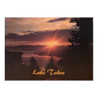 El lago Tahoe en la invitación del fiesta de la