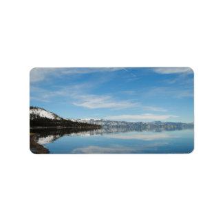 El lago Tahoe Etiqueta De Dirección