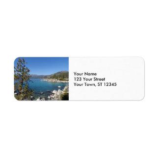 El lago Tahoe Etiqueta De Remite