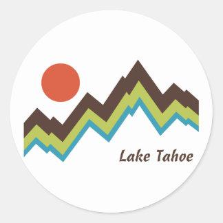 El lago Tahoe Etiqueta Redonda