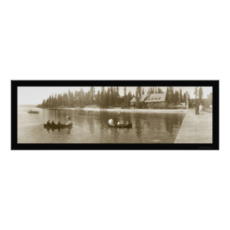 El lago Tahoe, foto 1908 de CA Póster