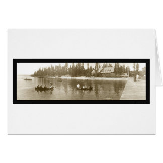 El lago Tahoe, foto 1908 de CA Tarjeta De Felicitación