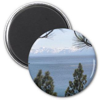 El lago Tahoe Imán Redondo 5 Cm
