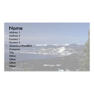 El lago Tahoe, Nevada Plantillas De Tarjetas Personales
