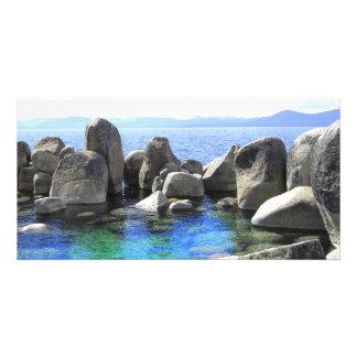 ~ el lago Tahoe Photocard de Stonehenge del agua Tarjeta Fotográfica Personalizada