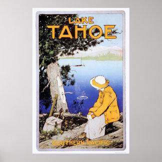 El lago Tahoe Póster