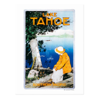 El lago Tahoe PosterLake promocional Tahoe, CA Postal