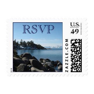 El lago Tahoe RSVP Timbre Postal