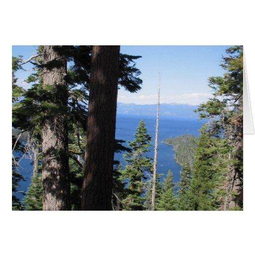 El lago Tahoe Tarjeta