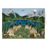 El lago Wallowa del ~ de Nez Perce Felicitaciones