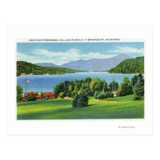 El lago Whiteface Mt en distancia Postal