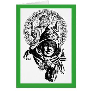 El lama verde tarjeta de felicitación
