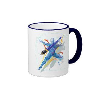 El lanzador de jabalina taza a dos colores