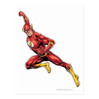 El lanzarse del flash tarjeta postal