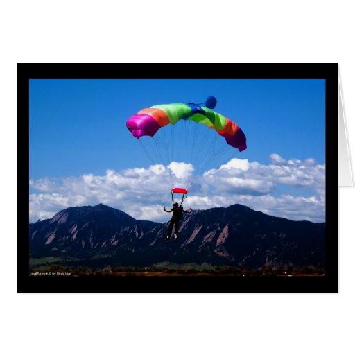 El lanzarse en paracaídas felicitacion